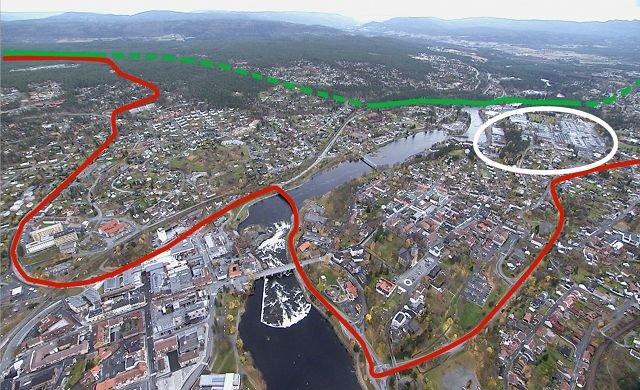 kongsberg teknologipark kart Laagendalsposten   D dag for det store E134 prosjektet kongsberg teknologipark kart