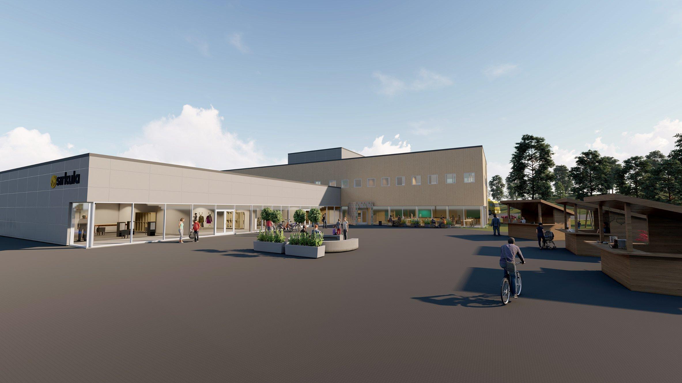 Snart kan du shoppe på gjenvinninga – slik blir den nye kretsløpsparken til Sirkula på Gålåsholmen
